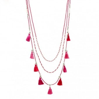 Pink Malai Necklace