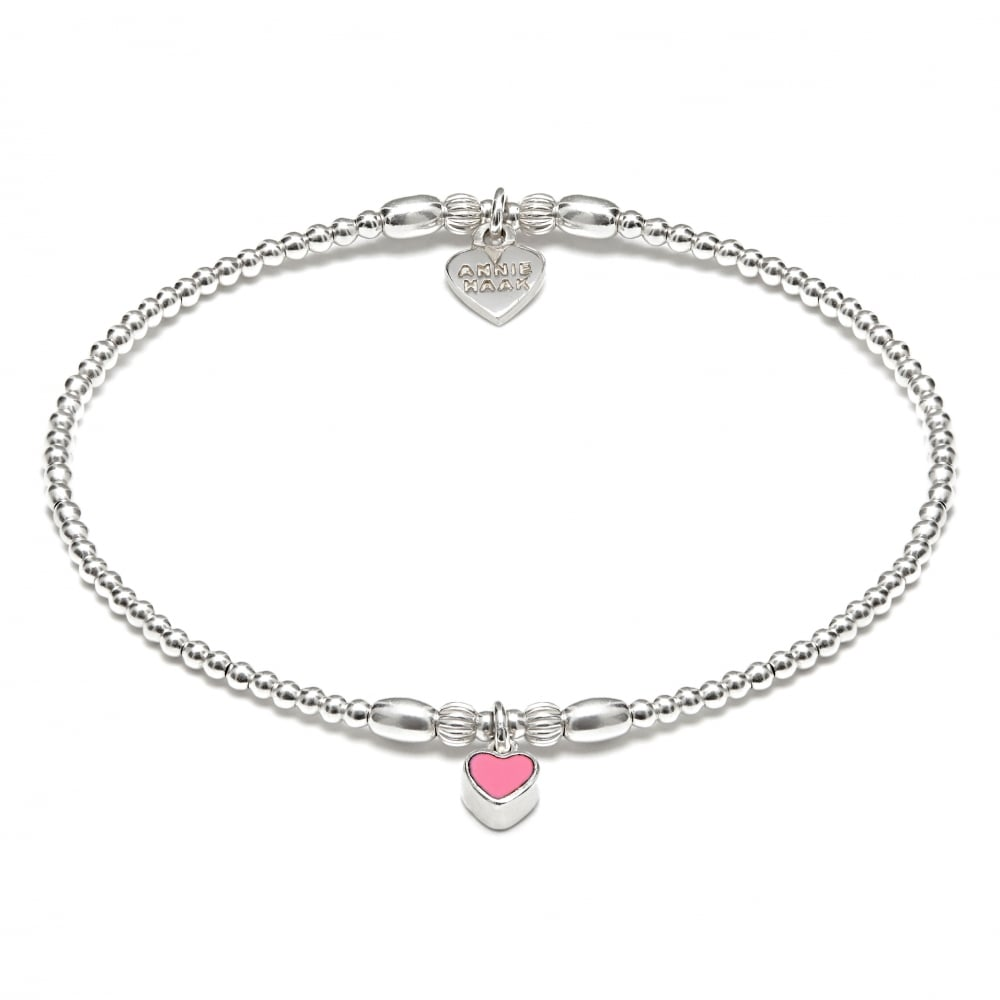 girls heart jewellery london bracelet pink elodie brown min molly