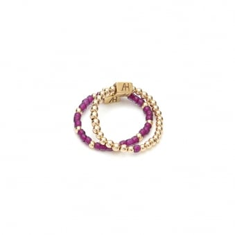 Serasi Dua Gold Ring-Purple