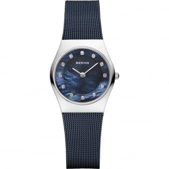 Classic Watch D/Blue Mesh Stra