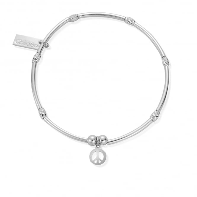 ChloBo Silver Bracelet with Peace Cha