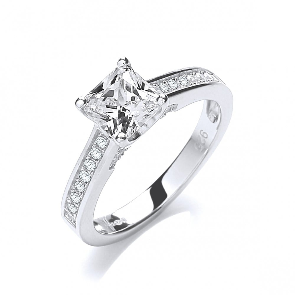 carat white brilliant zirconia gifts ring in cut cubic gold jewellery p jewelry