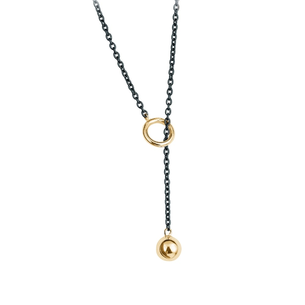 set heart pave cz shadow image two tone fiorelli necklace
