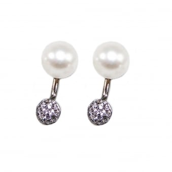 Drop Earrings with Pearl