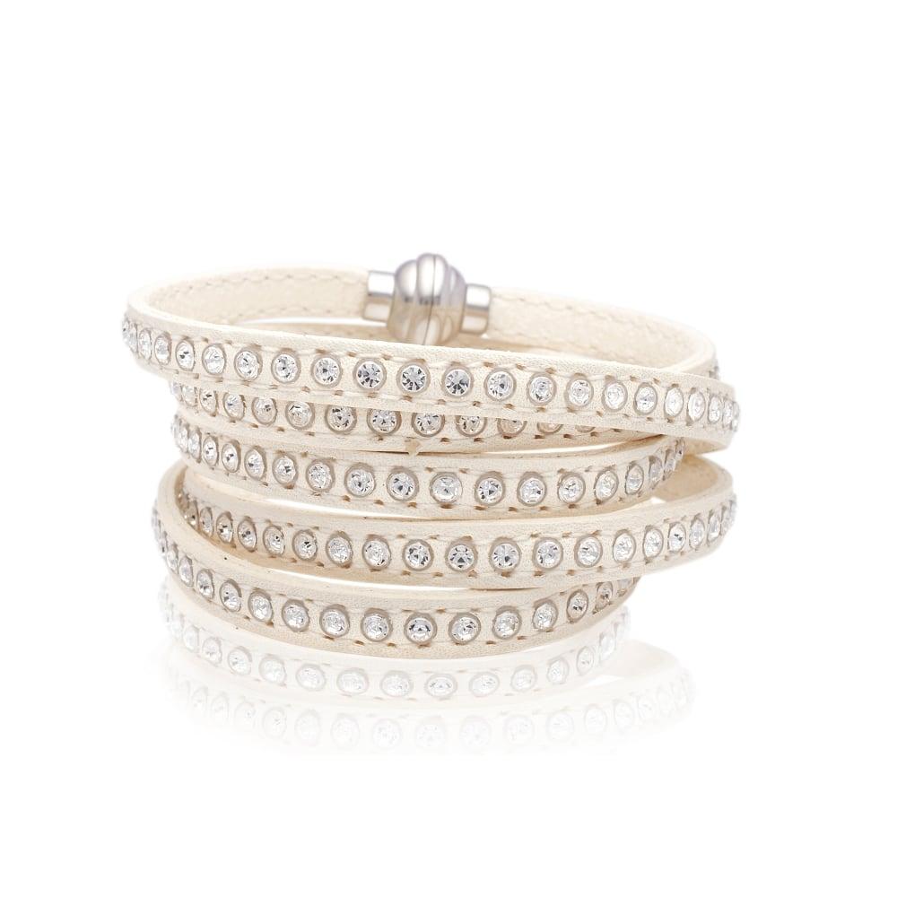 Arezzo White Leather Bracelet