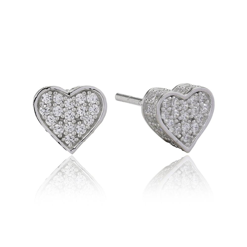 75bdcc54b SIF Jakobs Sparkling Heart Stud Earrings - Jewellery from Danish ...