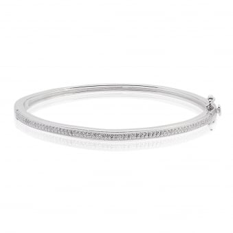 Cubic Zirconia Skinny Bangle